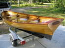 wood canoes, hand made canoes and paddles for sale